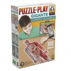 Puzzle Play Gigante Corpo Humano - 6 anos